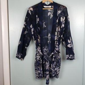 Victoria's secret blue printed kimono size XS -C3